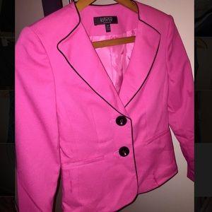 Kasper Hot Pink and Black Blazer